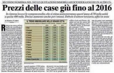 Articolo della stampa italiana